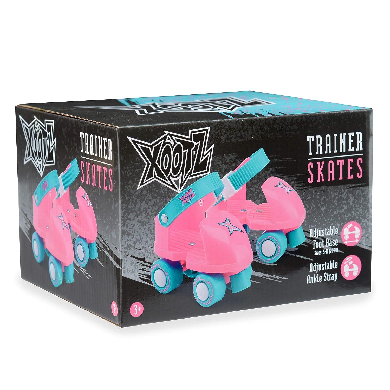 Boys and Girls Xootz Beginner Trainer Skates My First 4 Wheel Quad Roller Skates for Kids