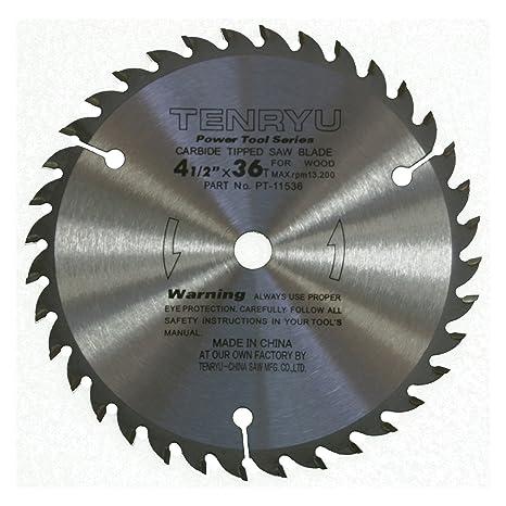 Tenryu pt 11536 4 12 carbide tipped saw blade 36 tooth ataf tenryu pt 11536 4 12quot carbide tipped saw blade 36 greentooth Images