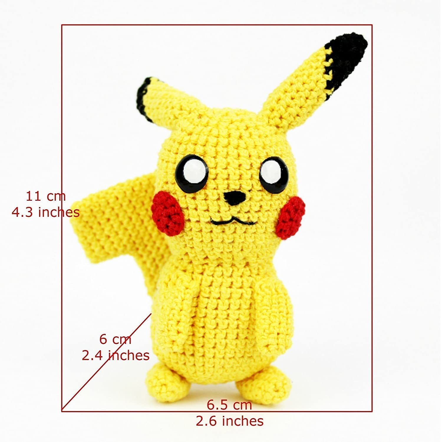 DIY Amigurumi Pikachu Crocheted amigurumi Pokémon – Amigurumi Patterns | 1500x1500
