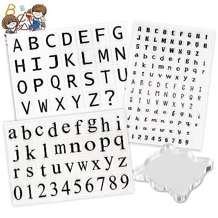 Amazon 178 Pcs Transparent Clear Silicone Stamps Alphabet