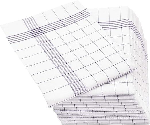 ZOLLNER 12 paños de Cocina Lino y algodón, 50x70 cm, Grises ...