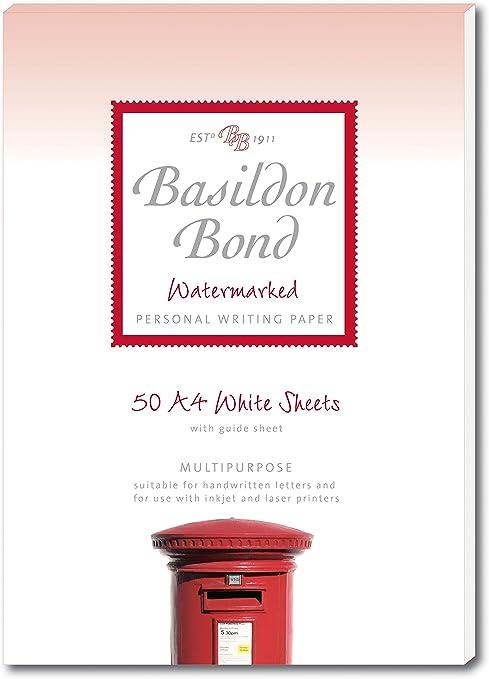 Basildon Bond A4 210 x 297 mm Writing Pad with 50 Sheets White