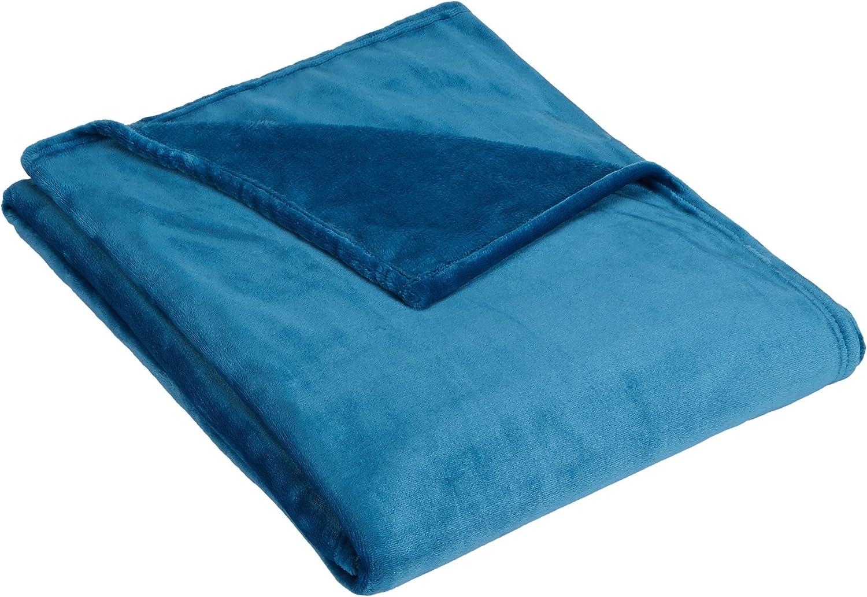 AmazonBasics - Manta de felpa suave - 127 x 152 cm - azul verdoso