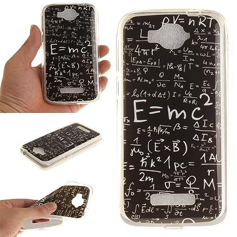 Qiaogle Teléfono Caso - Funda de TPU silicona Carcasa Case Cover para Alcatel One Touch Pop C7 (5.0 Pulgadas) - TX09 / Mathematical Formulas