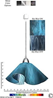 product image for Jezebel Radiance JRNI-LP16-SKY-TRNI Nickel Lily Track Light, Large, Sky Blue