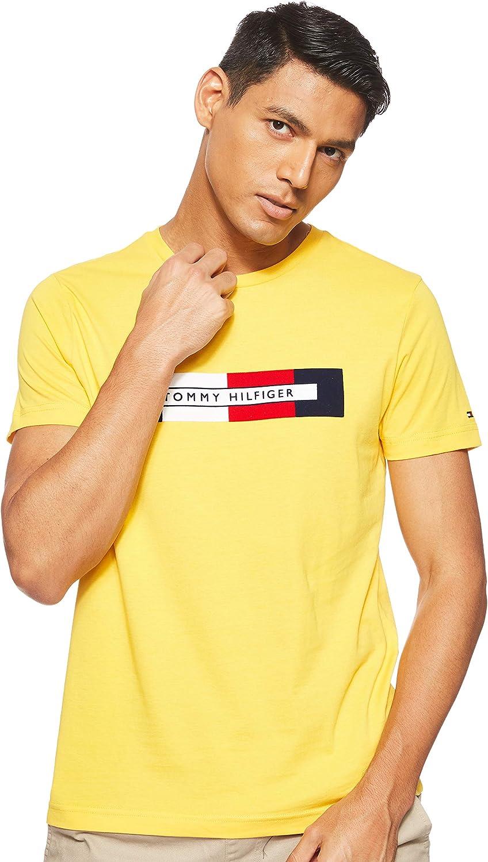 Tommy Hilfiger Box RWB Logo tee Top Deportivo para Hombre