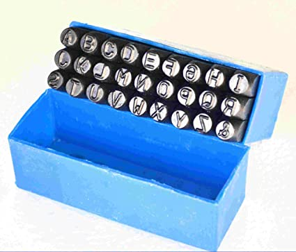 F-O-M Hardened Steel Alphabet Punch Set, 1/4 Inches-6.35mm(Carbon Steel, hvd9007)
