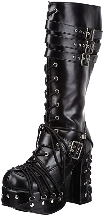 c02aa359db6 Demonia by Pleaser Women s Charade-206 Lace-Up Boot