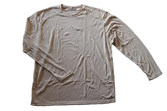 8e6bb2cfbb54 DRIFIRE Military Army Flame Resistant Moisture Wicking Silk Weight Long  Sleeve Shirt (L) Desert