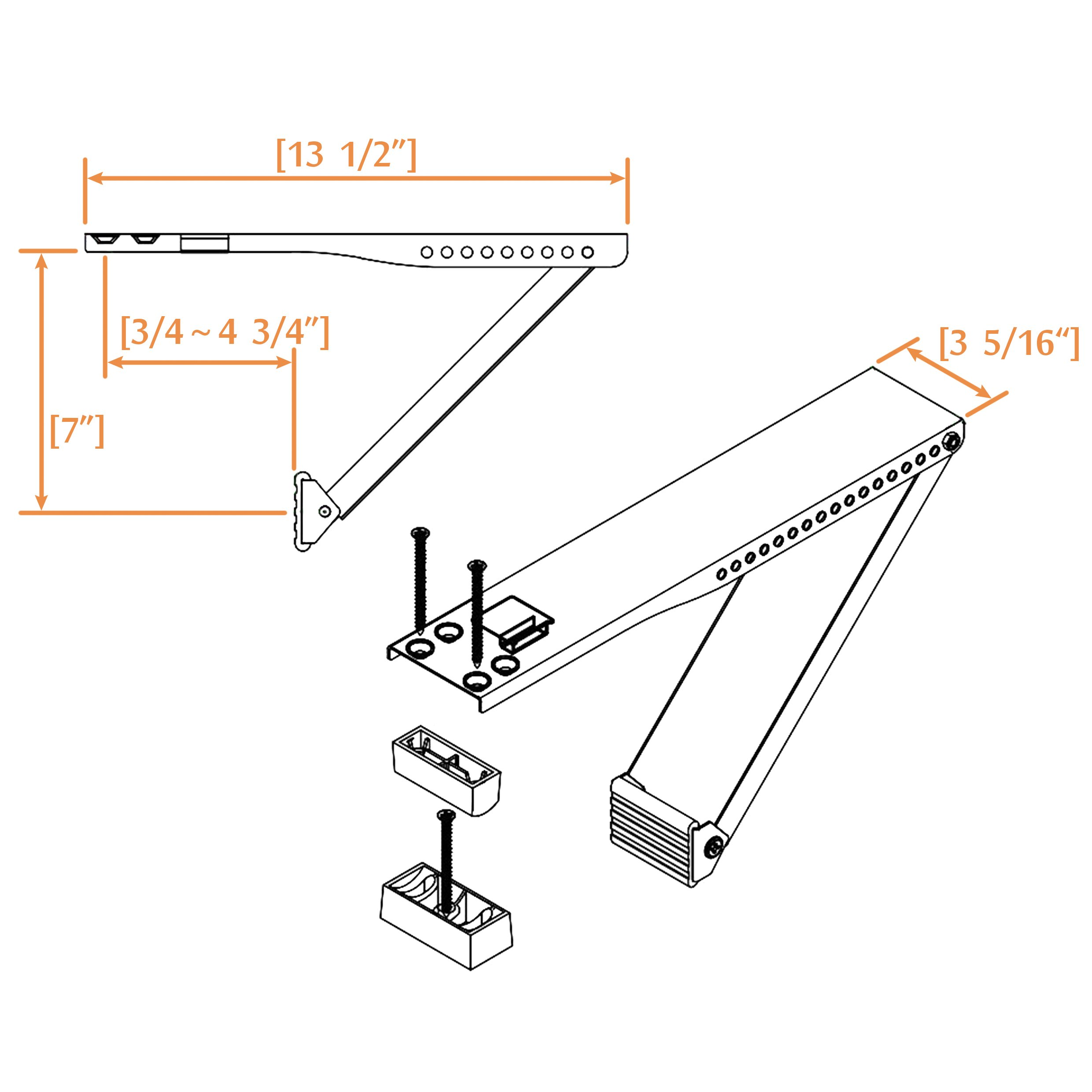 Jeacent Universal AC Window Air Conditioner Support Bracket Light Duty, Up to 85 lbs by Jeacent (Image #2)