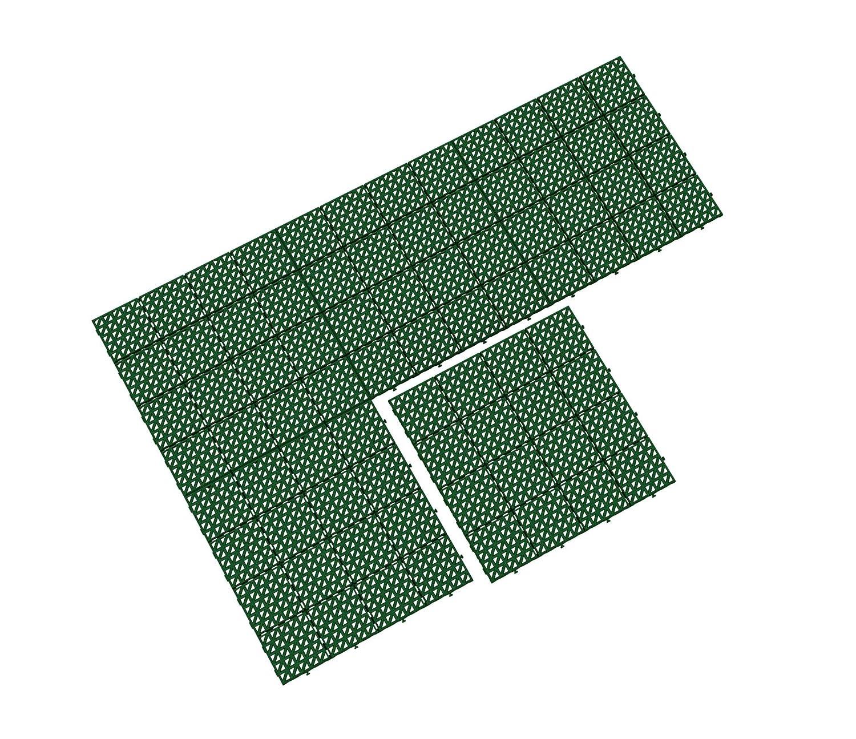 Rasenfliese Bodengitter 333 x 333 x 10,5 mm ab 18 St/ück Terrassenfliese Bodenrost Balkonfliese aus Kunststoff