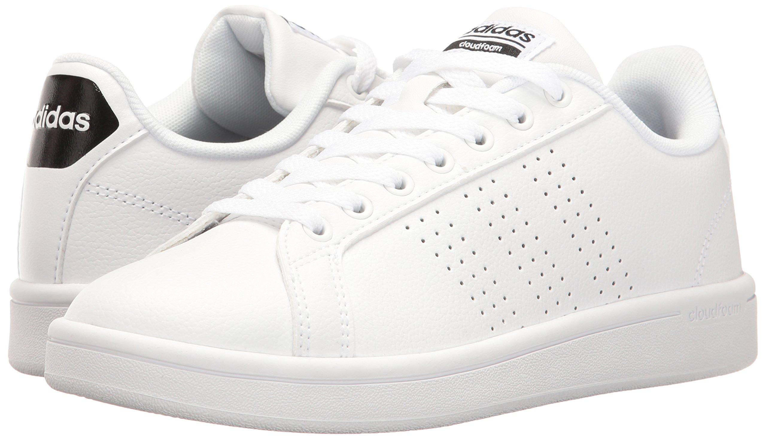 adidas Women's Shoes Cloudfoam Advantage Clean Sneakers, White/White/Black, (7.5 M US) by adidas (Image #6)