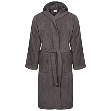 Linen Galaxy Bath Robe Ladies One Size 100% Egyptian Cotton Terry Towelling  Hooded Soft Absorbant (Charcol)  Amazon.co.uk  Clothing 05cba4578