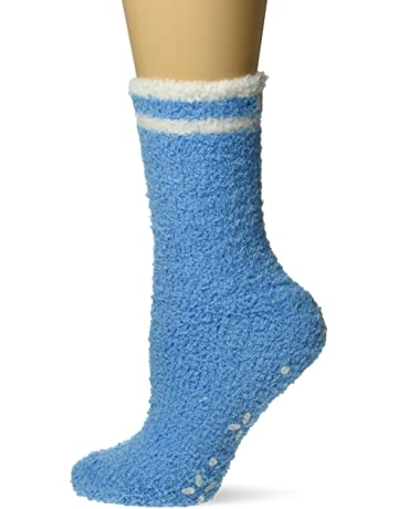 46d35115756c0 Karen Neuburger Women's Super Soft Cozy Fluffy Warm Lounge Sock with  Grippers