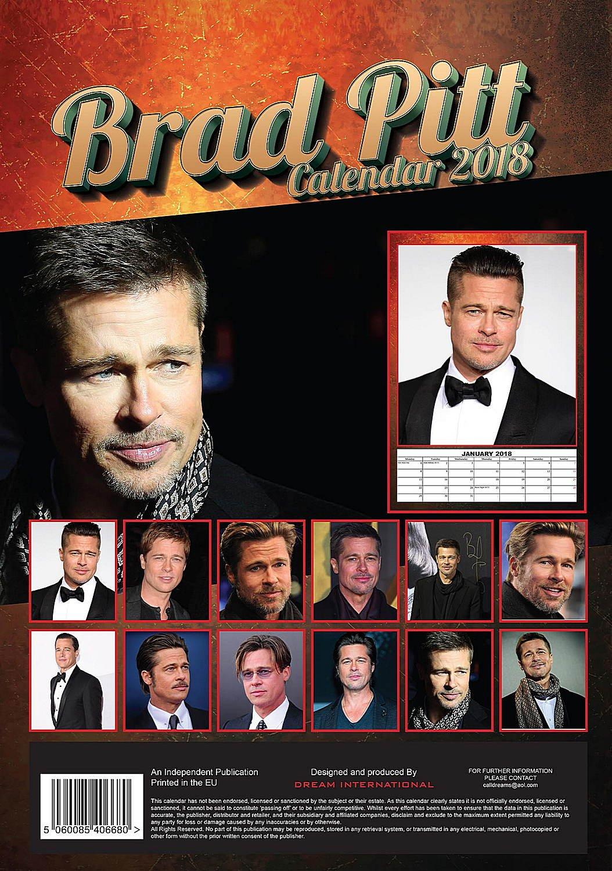 Brad Pitt Calendar Calendar 2017 2018 Calendars Movie Wall