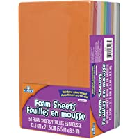 Elmer's Foam Sheets, 13.9 X 21.5cm, 5.5 X 8.5-Inch, 50-Count, Assorted Rainbow Colors (EC61283Q)