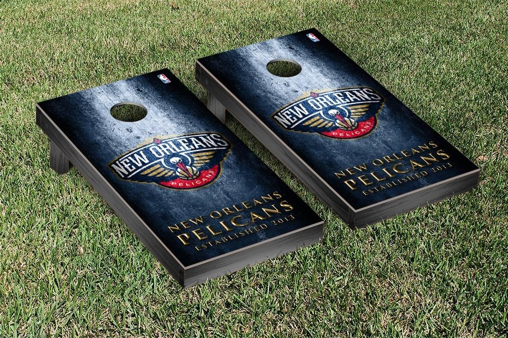 New Orleans Pelicans NBA Basketball Regulation Cornhole Game Set Museum Version by Victory Tailgate