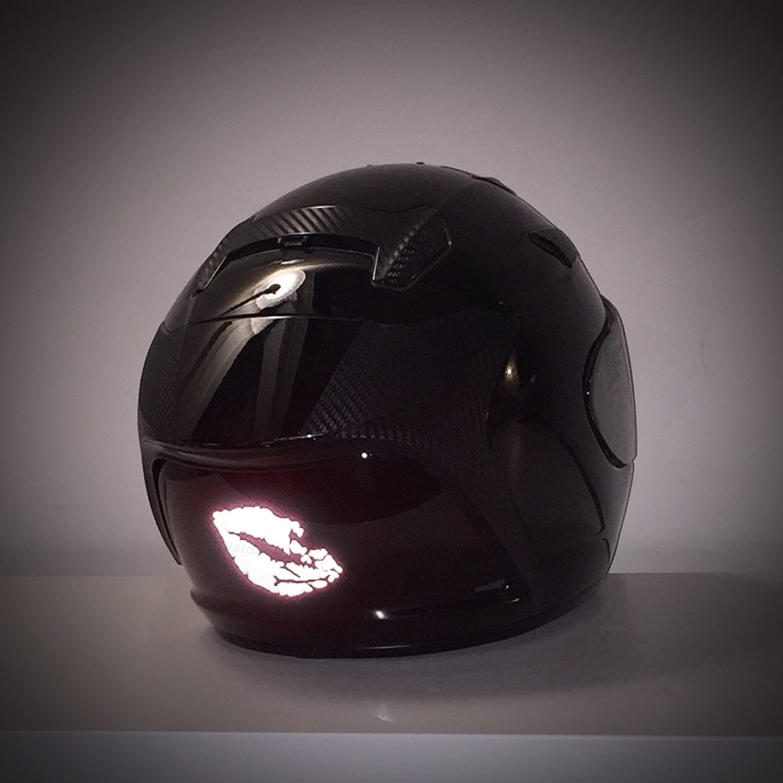 Cars Black, 3 inch Wide, Pair customTAYLOR33 High Intensity Reflective Vinyl Death Kiss Skull Crossbones Lips Decal Bumper Sticker Motorcycles laptops cellphones, Helmets Wind Screens