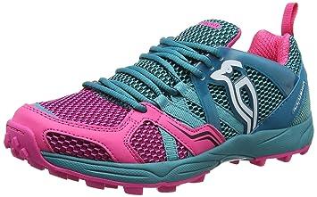 Kookaburra ilusión Zapato Calzado de Hockey, Unisex, Color Teal/Pink, tamaño 9: Amazon.es: Deportes y aire libre