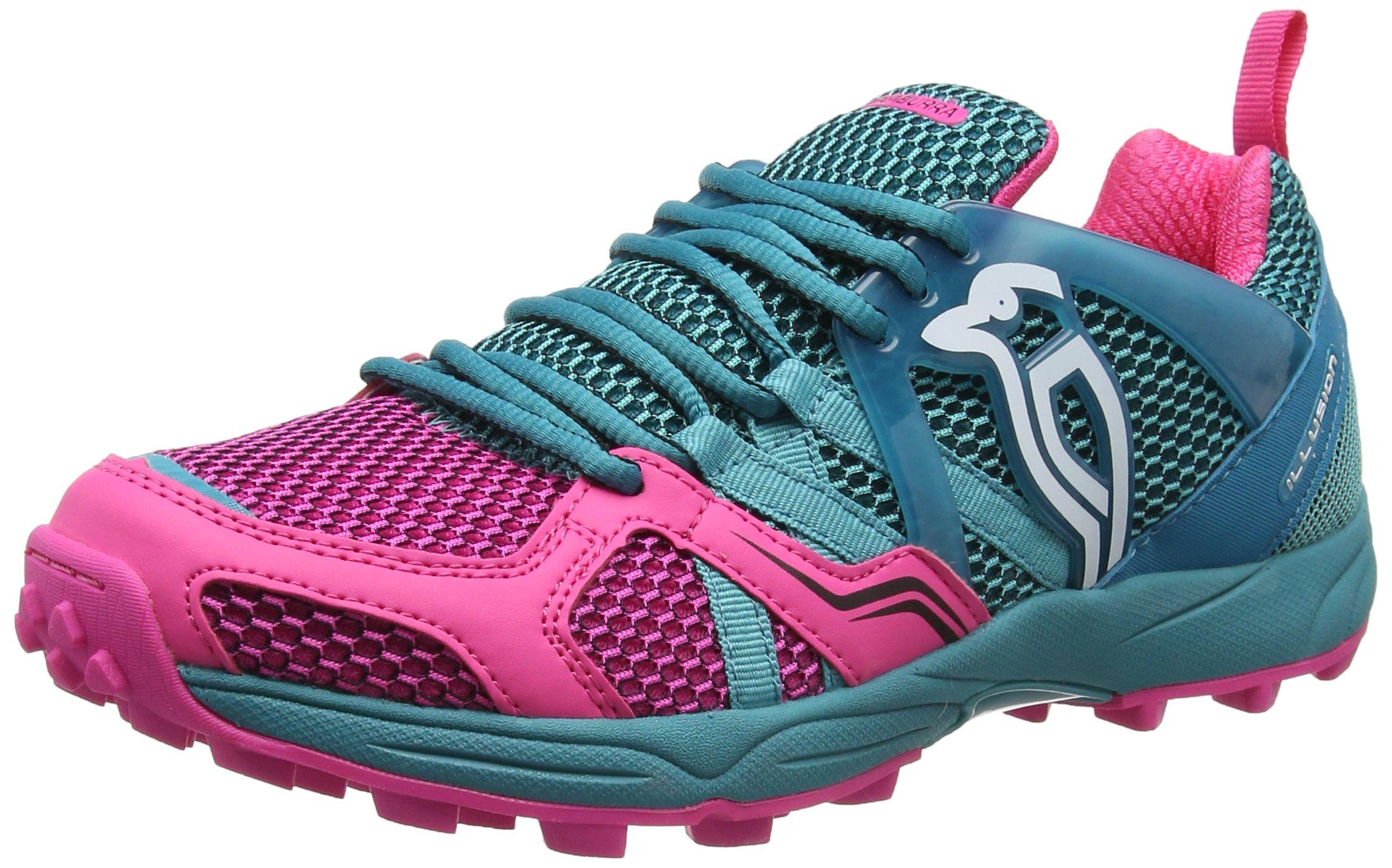 Kookaburra Illusion Senior Hockey Shoes - Teal/Pink - UK 9