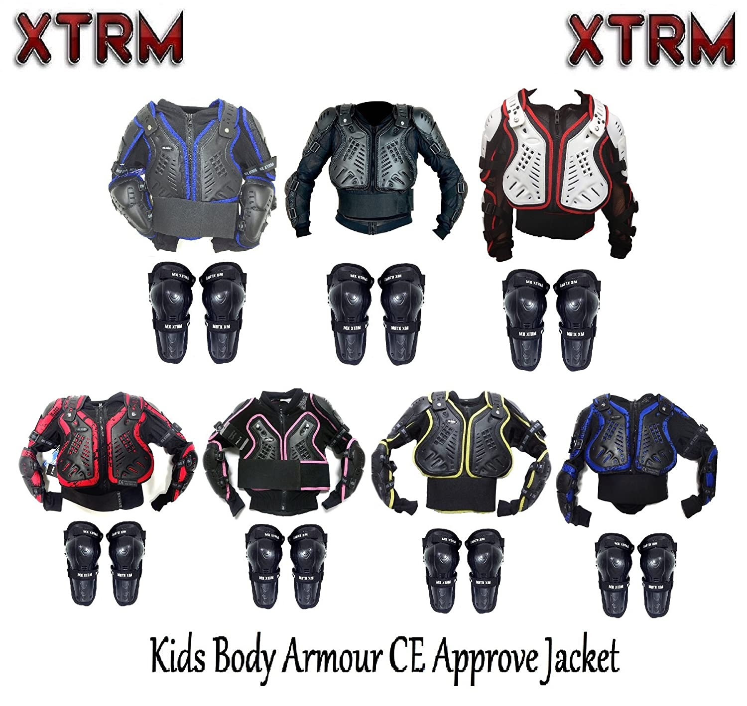 NEW Motocross Motorcycle Dirt Bike Body Armour Jacket Knees Guard Protection AU Body Armour & Protectors Apparel & Merchandise