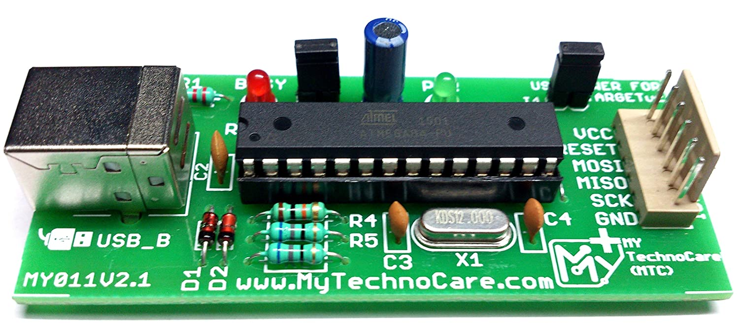 My Technocare Isp Programmer For Atmega Microcontroller Circuit 8051 Electronics