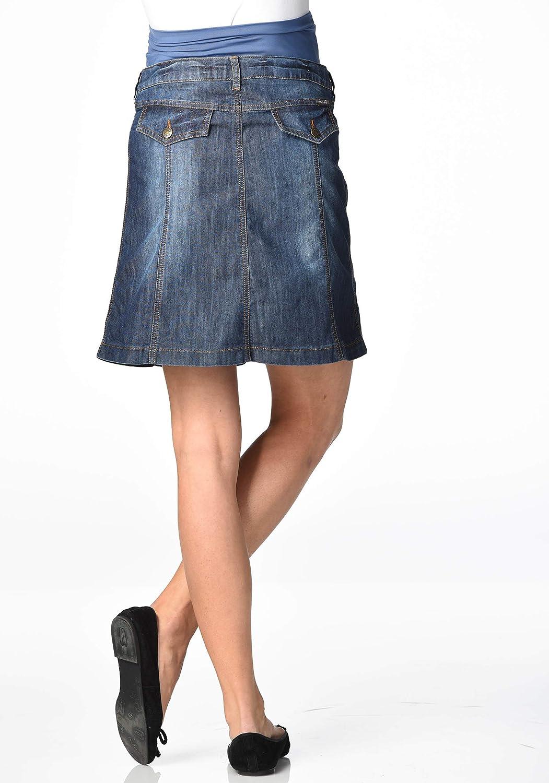 Christoff Designer Jeans-Rock leicht ausgestellt Damen Jeansrock Umstandsmode 646//93 Mailand
