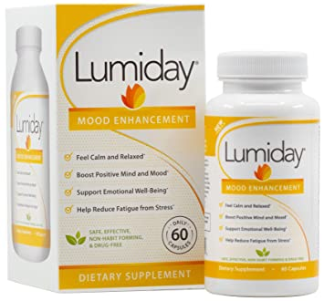 Lumiday Natural Mood Enhancement Supplement - Mood Booster and Stress  Relief Support