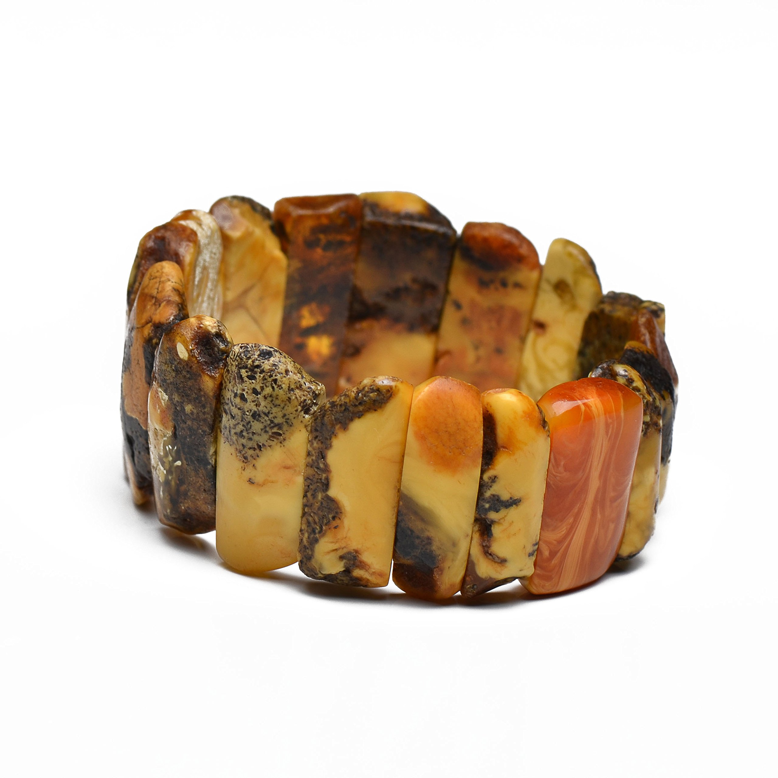 Vintage Amber Bracelet for Woman - Exclusive Handmade Barcelet - Genuine Amber
