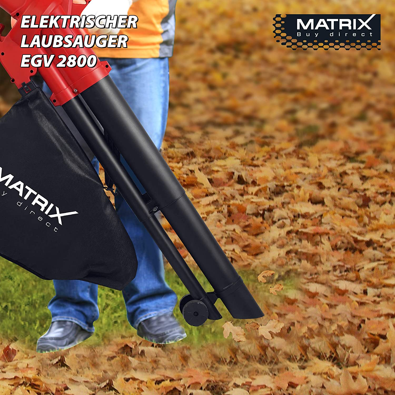 Noir W 230/V Rouge Matrix 320200310/egv 2800/Aspirateur souffleur /électrique