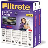 Filtrete Healthy Living Ultra Allergen Deep Pleat AC Furnace Air Filter, Delivers Cleaner Air Throughout Your Home, MPR 1550, 20 x 25 x 4 (3-3/4 Actual Depth), 2-Pack