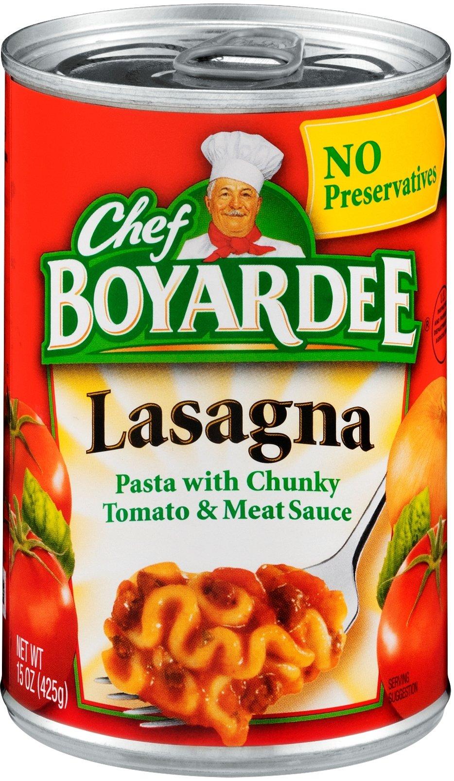 Chef Boyardee Lasagna, 15 oz Can (Pack of 16)