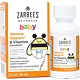 Zarbee's Naturals Baby Immune Support* & Vitamins, Natural Orange Flavor, 2 Ounce Bottle