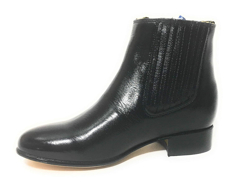 Amazon.com | Botin Charro DE PIEL. Black Charro Short Boots. Charro Gear | Western