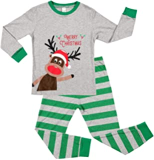ATTRACO Kids Christmas Pajamas Set Long Sleeve Sleepwear 2 Piece Cotton PJS  2-7 Years 2c2dcdd3e