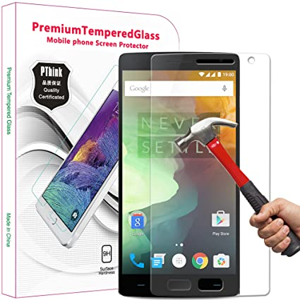 pthink nano slim tempered glass screen protector for oneplus 2 with 9h hardnessanti amazoncom tempered glass
