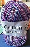 Gründl Wolle Cotton Quick print - Madeja para tejer (100% algodón)