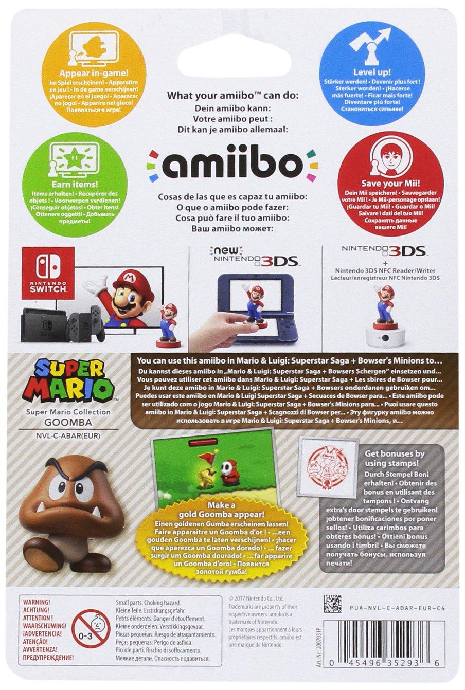Nintendo - Colección Super Mario, Figurina Amiibo Goomba: not ...