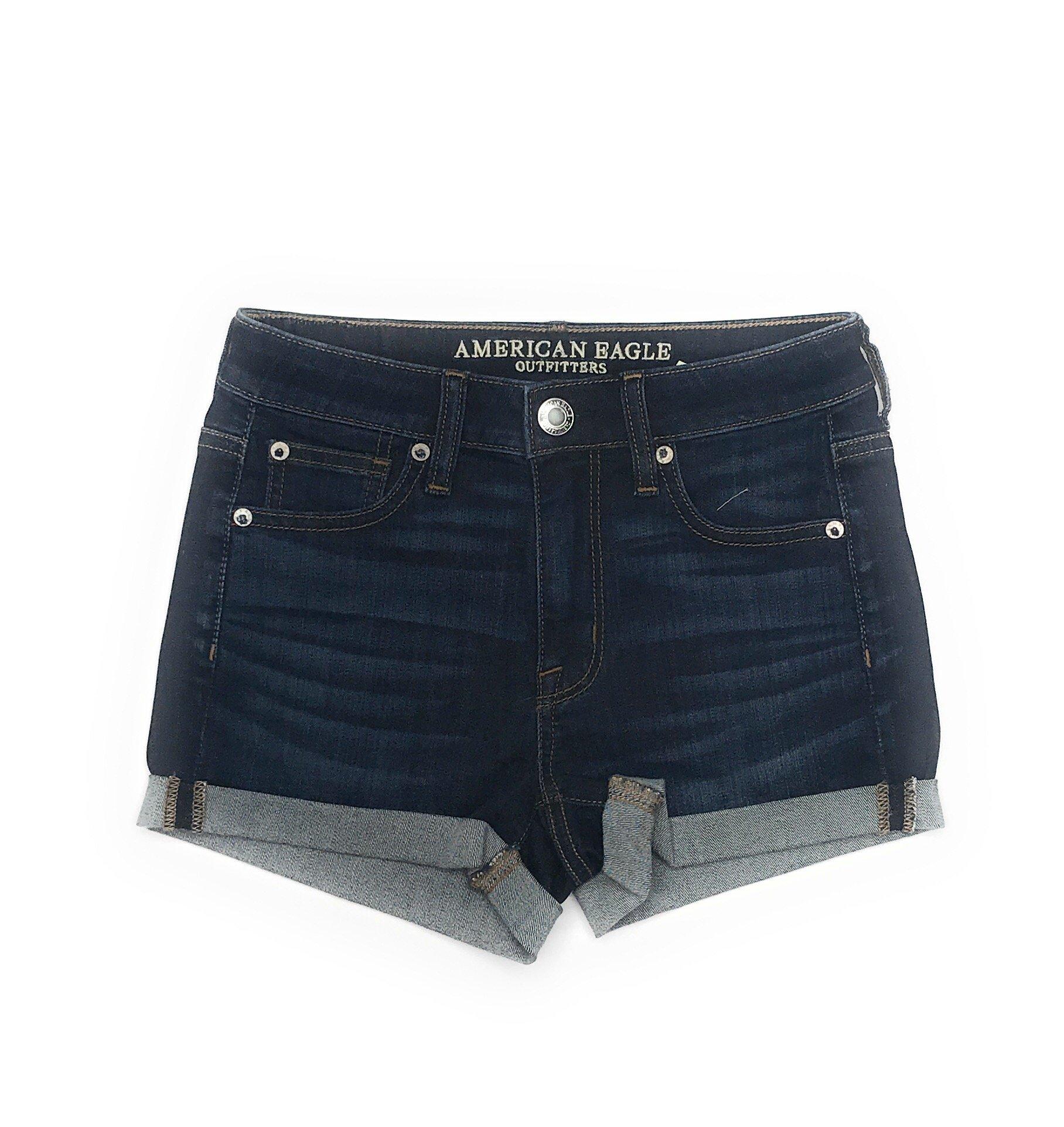 American Eagle Women's Hi-Rise Shortie Shorts W-23 (6, 4986)