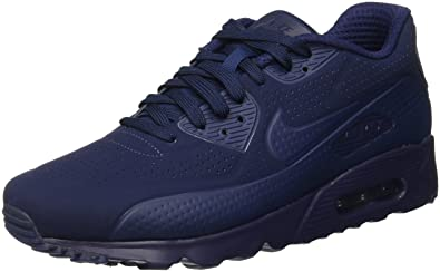 competitive price 86e6b bf393 Nike Air Max 90 Ultra Moire, Baskets Homme, Bleu Midnight Navy White,