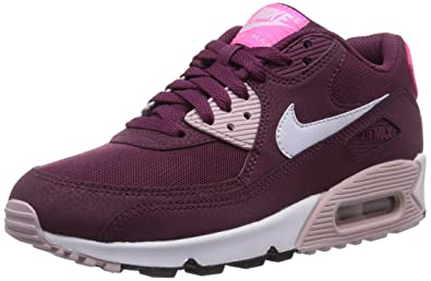 buy online 026fd eb36d Nike Air Max 90 Essential, Baskets Basses Femme, Rouge (Villain Red White