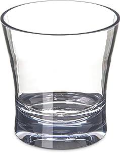 Carlisle 5612-407 Alibi Heavy-Weight Plastic Double Old Fashioned Glass, 12 oz (Set of 4)