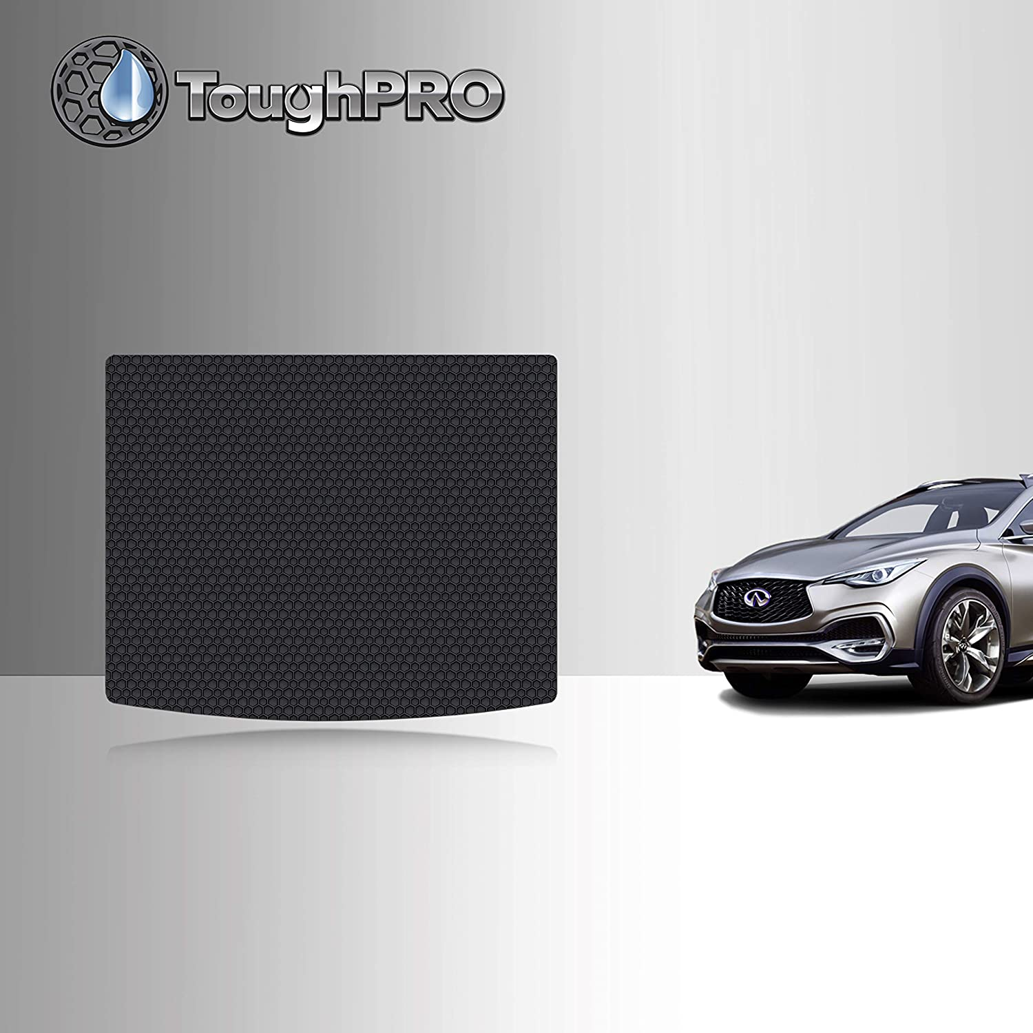 TOUGHPRO Cargo/Trunk Mat Accessories Compatible with Infiniti QX30 - All Weather - Heavy Duty - (Made in USA) - Black Rubber - 2017, 2018, 2019, 2020