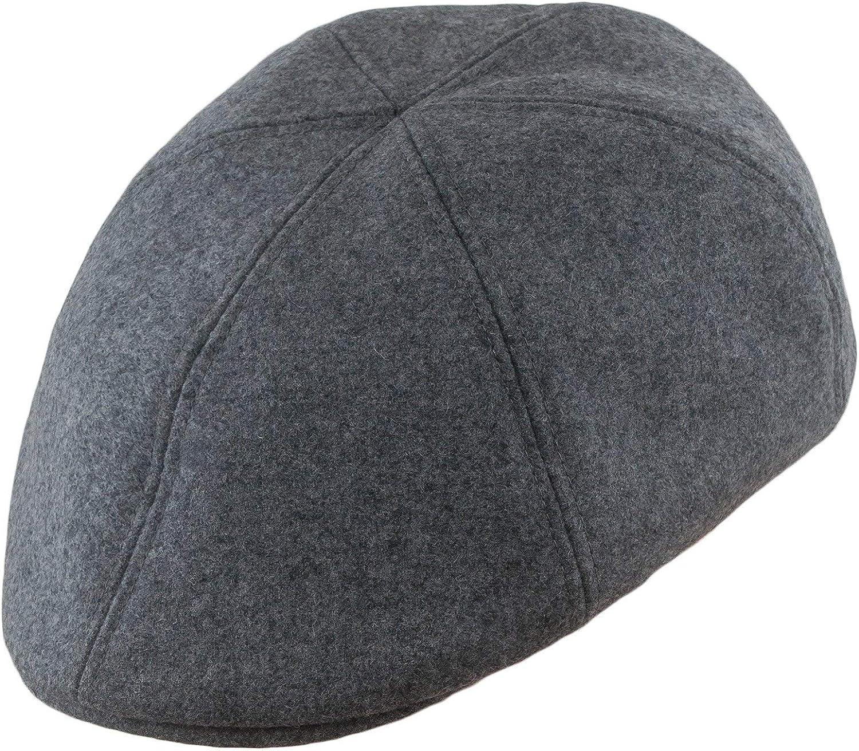 Classic Warm 6 Panel Irish Flat Cap with Lining Yorkshire Peaky Blinders Paperboy Sterkowski Rusty 100/% Wool Duckbill Mens Flat Cap