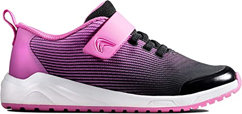 Clarks Aeon Pace Kid Textile Trainers in Pink