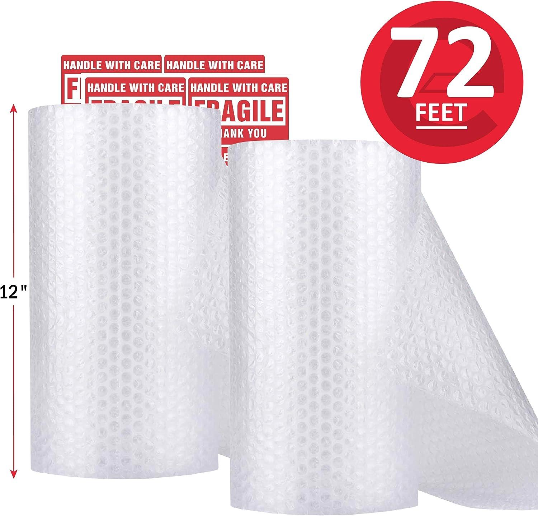 Rollo de envoltura de amortiguación de burbujas (22m) 2 pack
