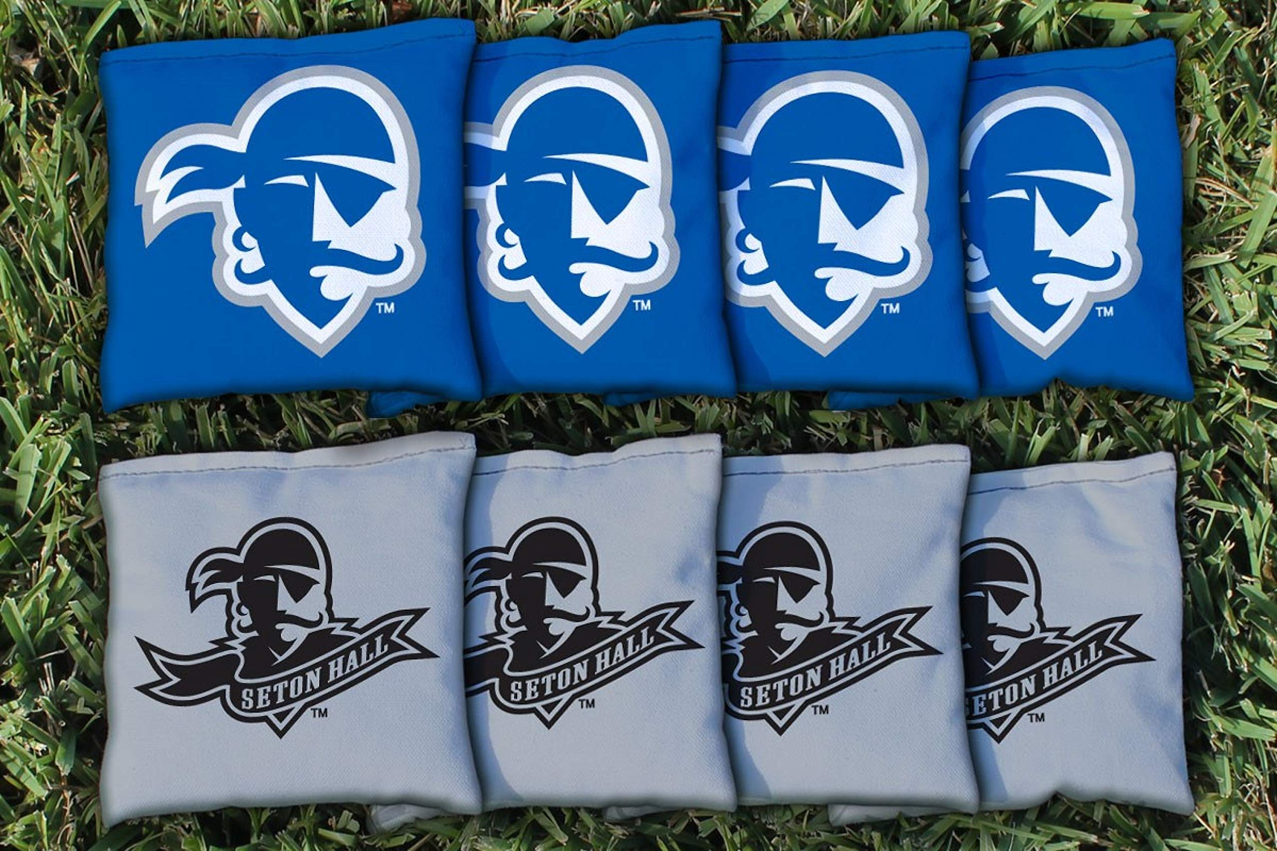 Victory Tailgate NCAA Collegiate Regulation Cornhole Game Bag Set (8 Bags Included, Corn-Filled) - Seton Hall Pirates by Victory Tailgate