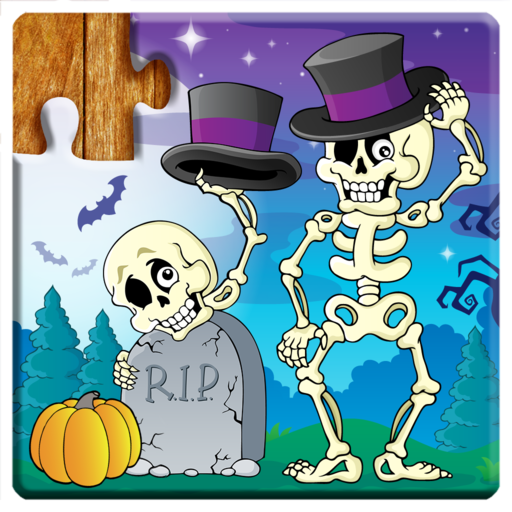 Jigsaw Puzzles Halloween Game for Kids - Free