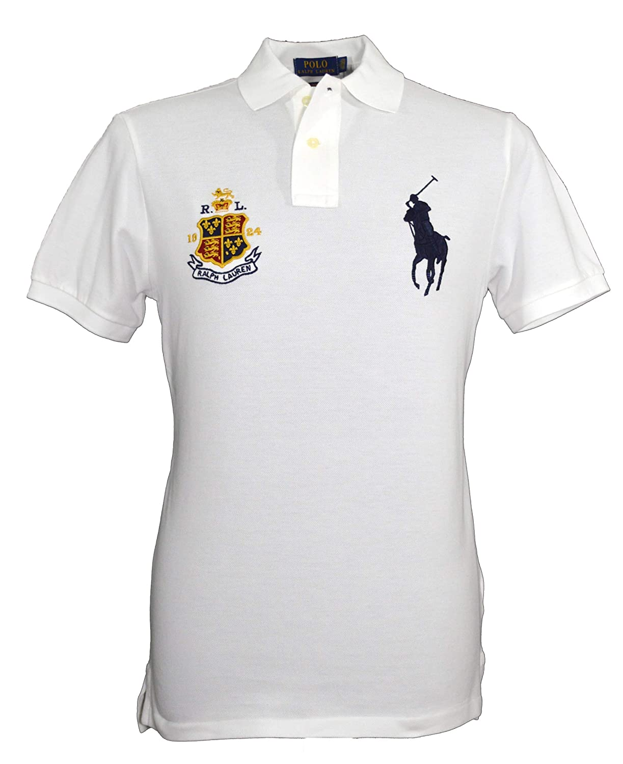 Ralph Lauren Big Pony - Polo para Hombre, Color Blanco Blanco ...