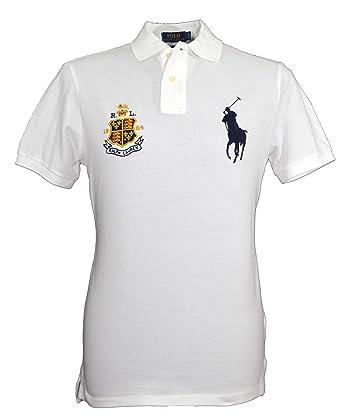 Ralph Lauren Big Pony - Polo para Hombre, Color Blanco Blanco ...